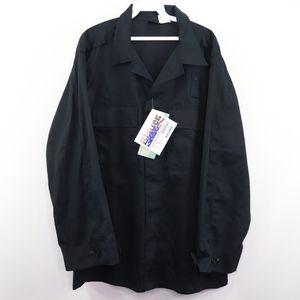 New Blauer Mens Large Uniform BDU Work Shirt Blue